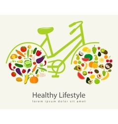 Healthy lifestyle concept in modern flat design vector