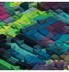 Abstract colorful cube - background vector image