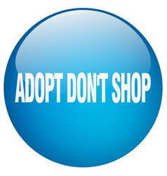 Adopt dont shop vector