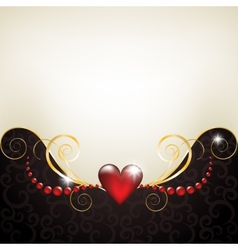 Background with jewelry frame vector image vector image