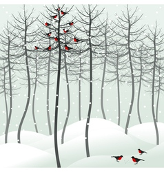 Birds sitting on tree vector