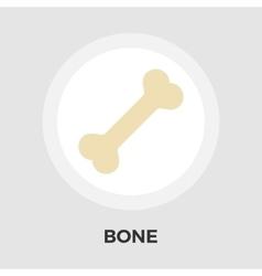 Bone flat icon vector image vector image
