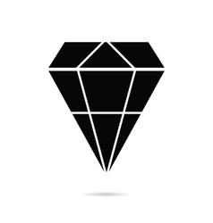 Diamond perfect in black color icon vector
