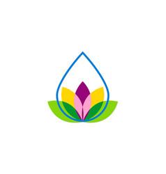 Droplet flower beauty logo vector