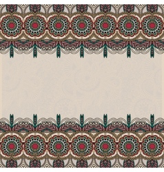 Ethnic ornate floral background with ornament vector