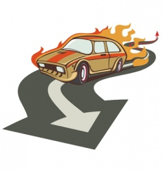 fire racer vector image vector image