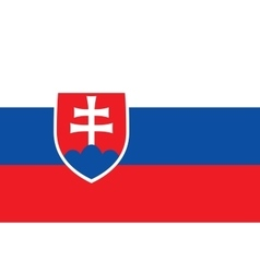 Flag of Slovakia in correct proportions and colors vector image