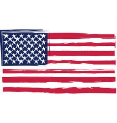 grunge united states flag or banner vector image
