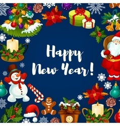 Happy new year holidays poster vector