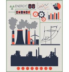 Industrial factory buildings vector image