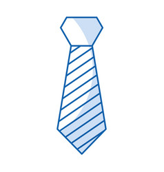 Isolated fashion tie vector