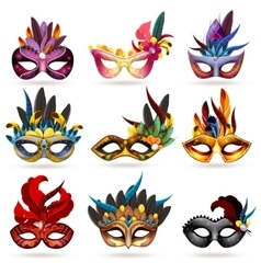Mask Icons Set vector image vector image