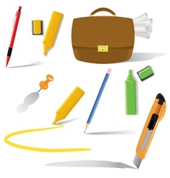 office objects in use vector image vector image