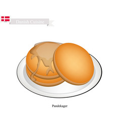 pandekager or thin pancake vector image vector image