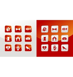 Pet care icons set vector image