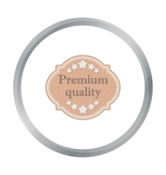 Premium quality icon in flat style isolated on vector image