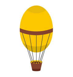 retro hot air balloon icon isolated vector image vector image