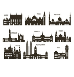Silhouettes of cities vector