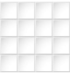 Tile white texture vector image