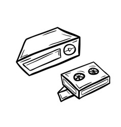 Videoplayer with two cassettes vector