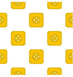Yellow square sewing button pattern flat vector