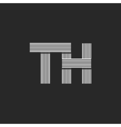 Logo th letters initials combination letters t vector