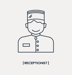 Receptionist outline icon vector