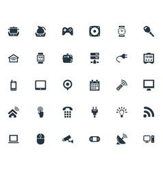 Set of simple internet icons elements desktop vector