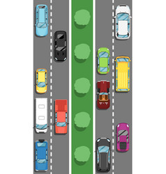 Highway traffic in rush hour poster in flat style vector