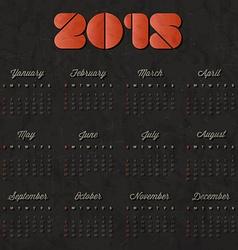 2015 calendar design vector image vector image