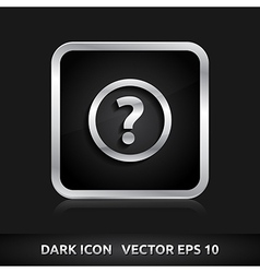 Ask question icon silver metal vector