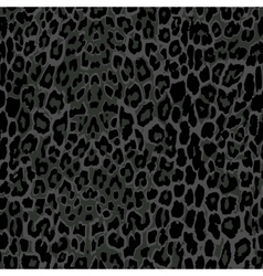 Seamless black leopard print vector