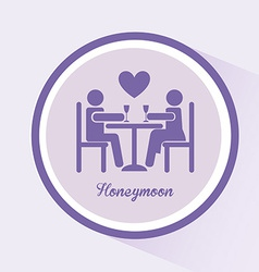 honeymoon vector image