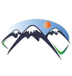 Mountain logo 2 vector