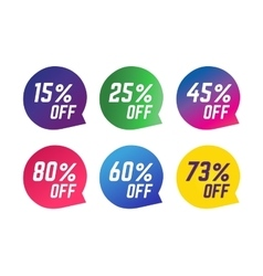 Sale off tags vector