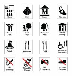 Public signs vector