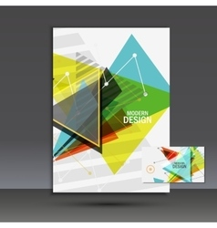 Light book cover abstract composition of vector