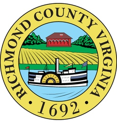 Richmond county seal vector