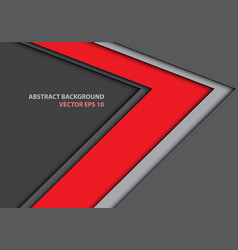 abstract red arrow direction on gray design vector image