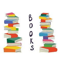 Books piles background for the educational card vector image vector image