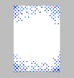 Circle pattern page background template vector