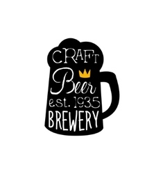Craft beer logo design template with pint vector
