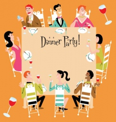 dinner party vector image