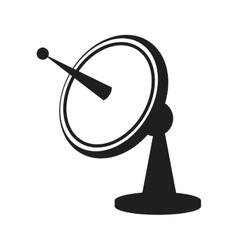Dish satellite antenna trasmitter vector