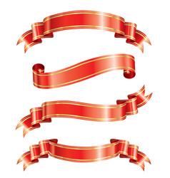 Elegance ribbon banner vector