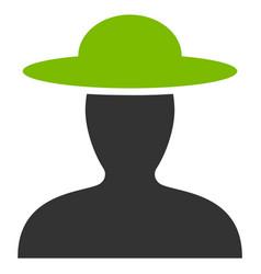 farmer person flat icon vector image vector image