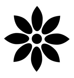 flower black color icon vector image vector image
