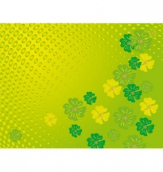 flowers on a green background vector image vector image