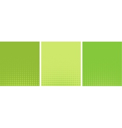 Graphical green yellow gradient in halftone style vector