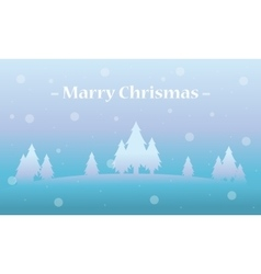 Holiday winter landscape tree christmas vector